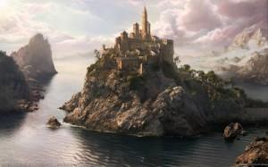 Fantasy world wallpapers - Dubrovnik Matte Painting