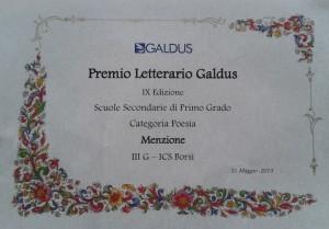 premio concorso Galdus